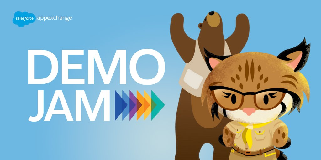 New Year, New Apps #DemoJam. See these apps demo for your vote in an epic battle.  @Medallia @Chargent_App  @fc_insights  @Blackthornio  @AccountingSeed @salesforce_labs    Jan 21 @ 1pm ET. Watch it here: https://t.co/3JqvrE4VqG https://t.co/Mv5vmEpGEA