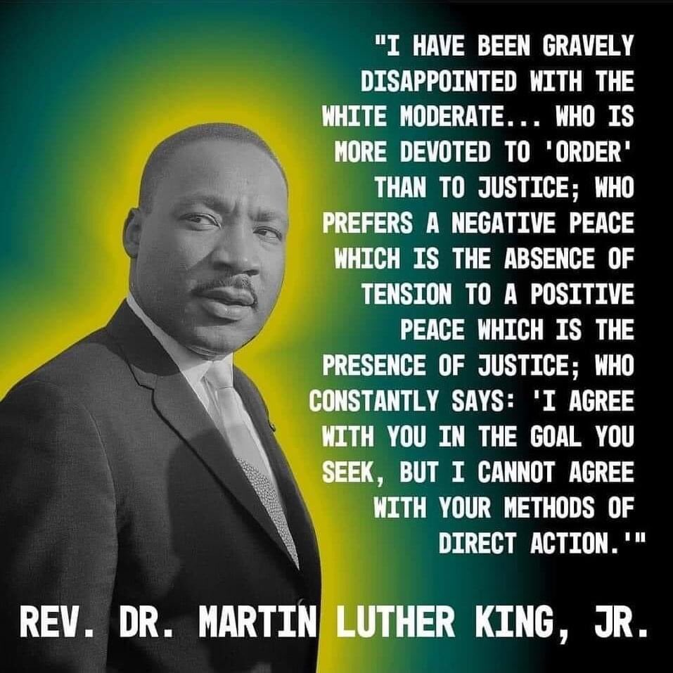 Words by MLK that apply to almost all of the Democratic Party and white liberals #MLKJr #MLKDay #MLKDay2021 #MLK