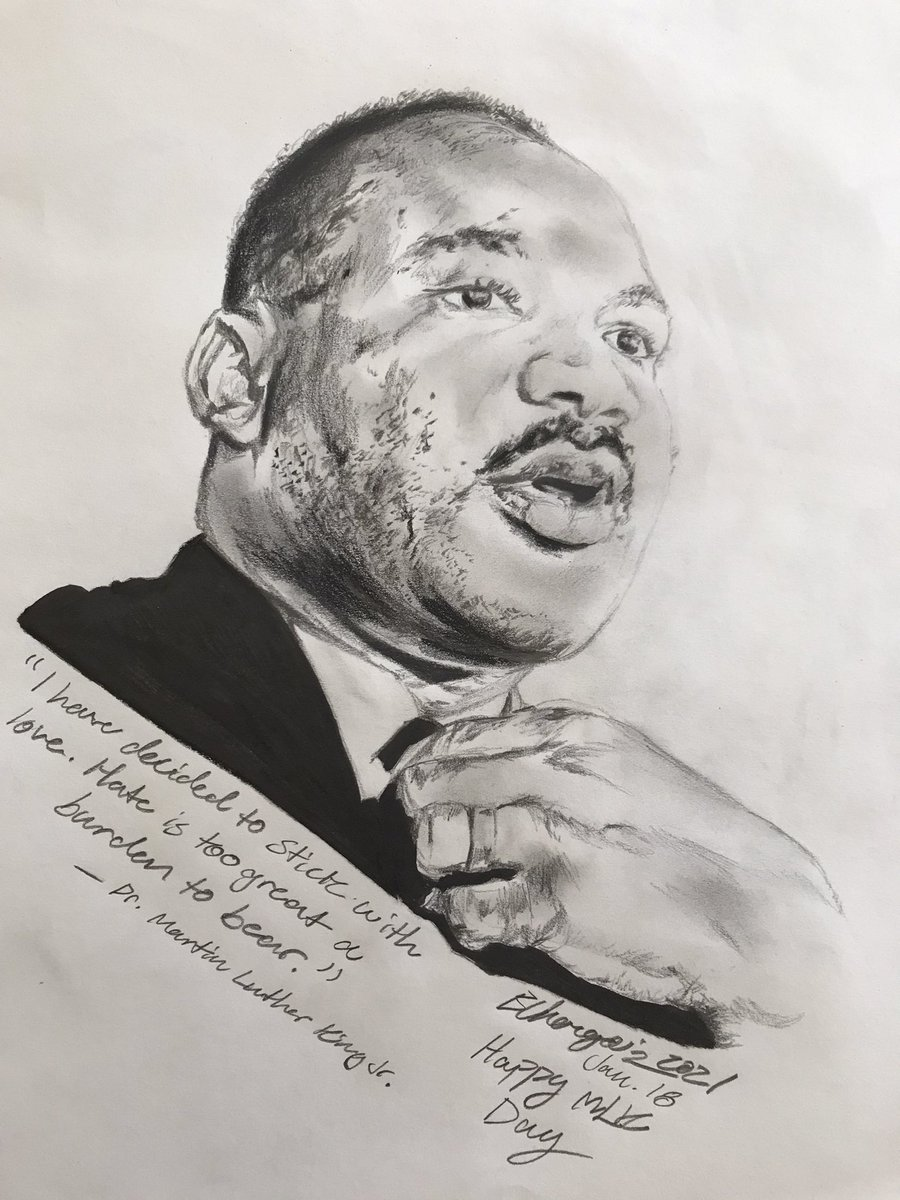 Happy #MLKDay  and here's the man, legend and KING 👑 — #DrMartinLutherKingJr #MLK  #MLKJr #mlk  #MartinLutherKing  #MartinLutherKingDay  #equality #sketch #art #drawing #illustration #quoteoftheday #MLKquotes #Pencildrawing #pencilsketch #pencilart