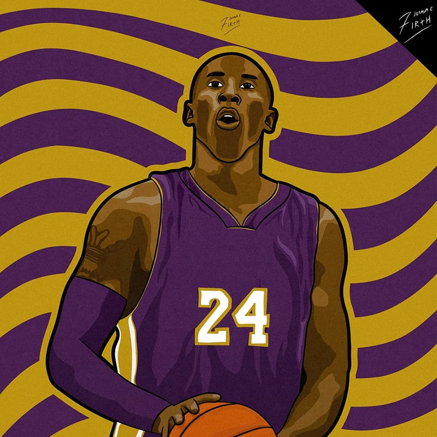 Kobe Bryant 🏀  This is an illustration design artwork that I have recently completed of Basketball legend Kobe Bryant!  Likes and RTs are appreciated!   #KobeBryant #MambaForever