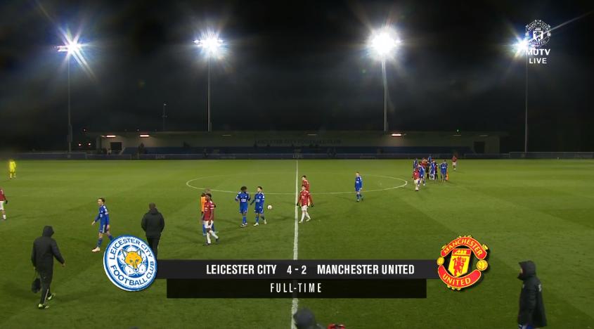 Rentrée difficile pour les U23 qui s'inclinent à Leicester. Beaucoup trop d'erreurs défensives pour espérer mieux ce soir. Anthony Elanga, double buteur, est sorti sur blessure à l'entame de la seconde période. #MUFC #PL2