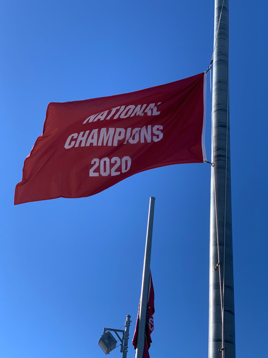 New flag to fly over Bryant-Denny, of course have to get a picture with it before it goes up!!!
