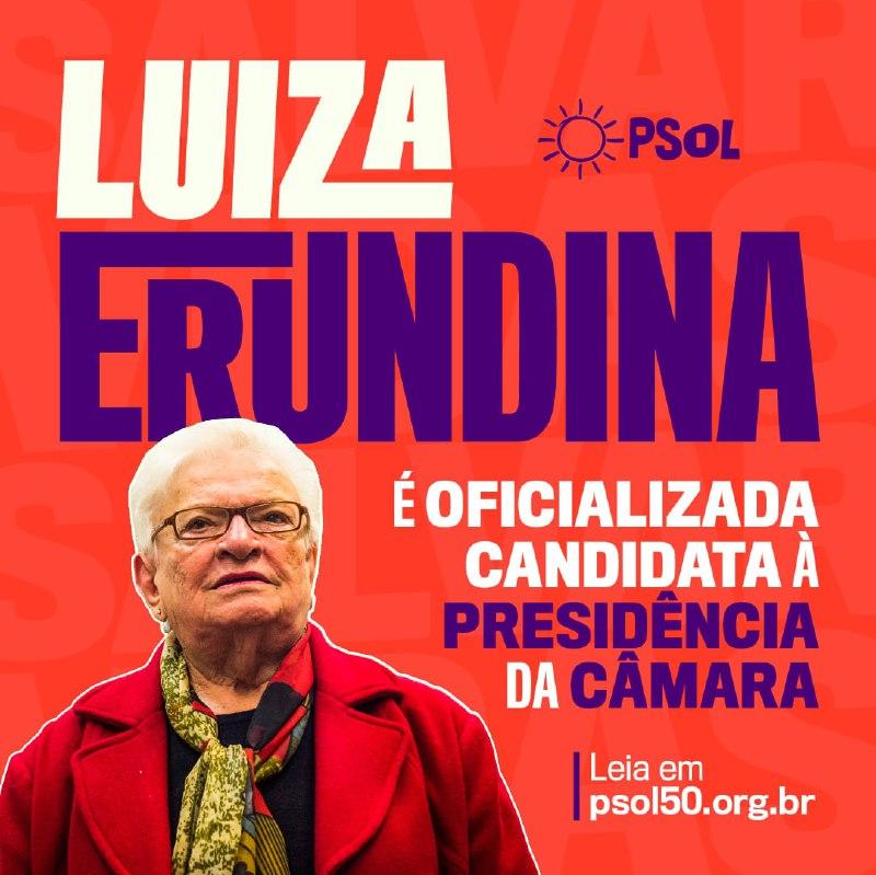 É OFICIAL! Luiza Erundina está na disputa à Presidência da Câmara dos Deputados. É o momento de tirar Bolsonaro e salvar vidas!  Leia mais: