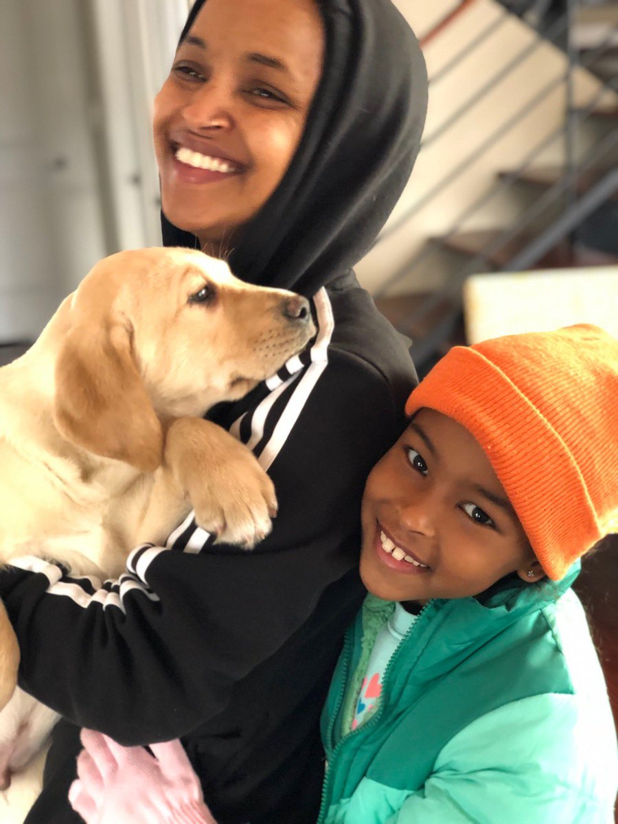 Image result for ilhan omar and dog