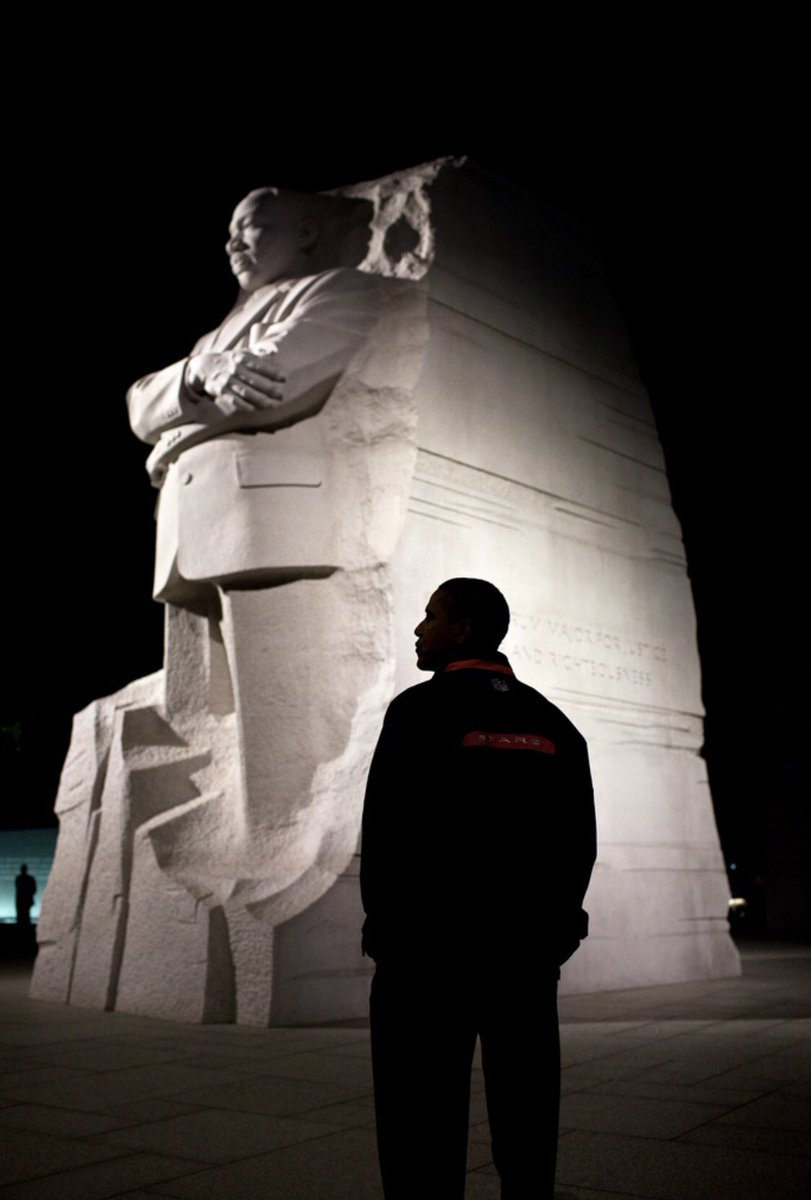 Two of the greatest men during my lifetime ...   #MLKJr & #POTUS44