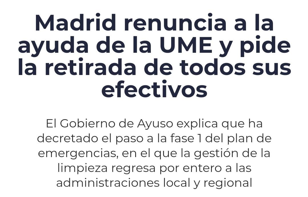 #AyusoDimision decide quitar a la UME...🤦🏻mientras por Vallecas...! #MadridBajoLaNieve esto es un caos total.