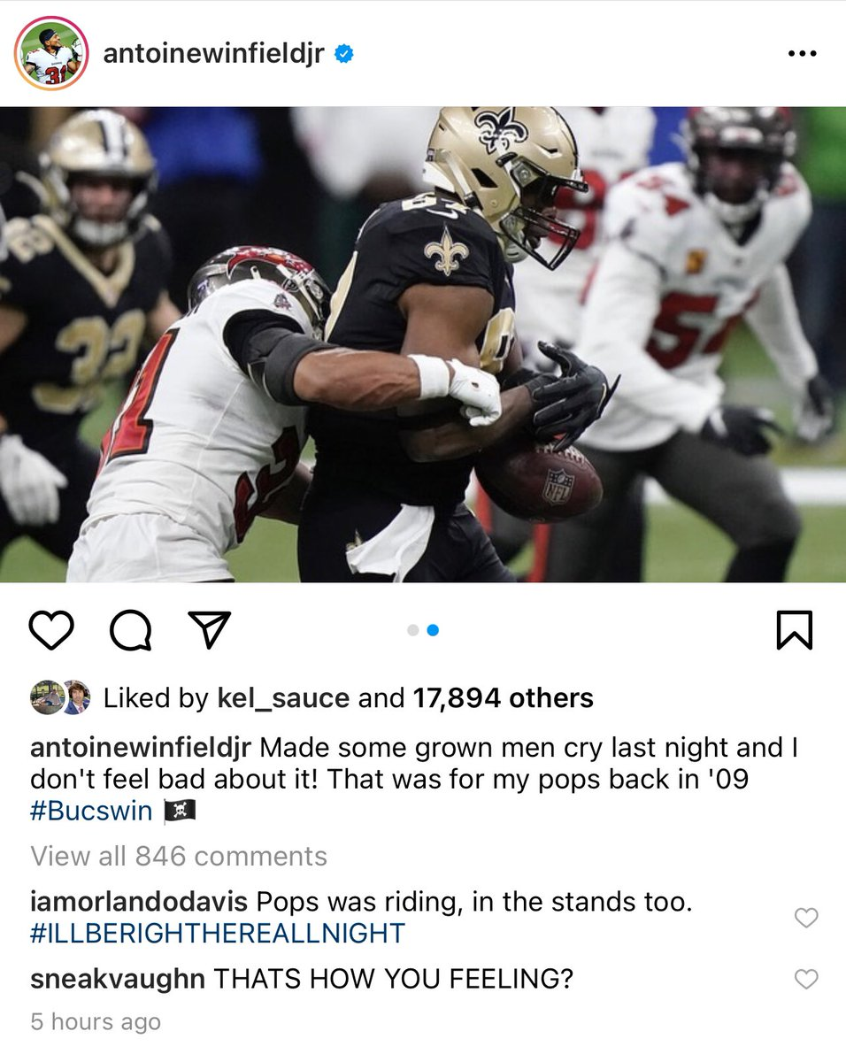 This is a savage post by Winfield Jr. and I freaking love it.