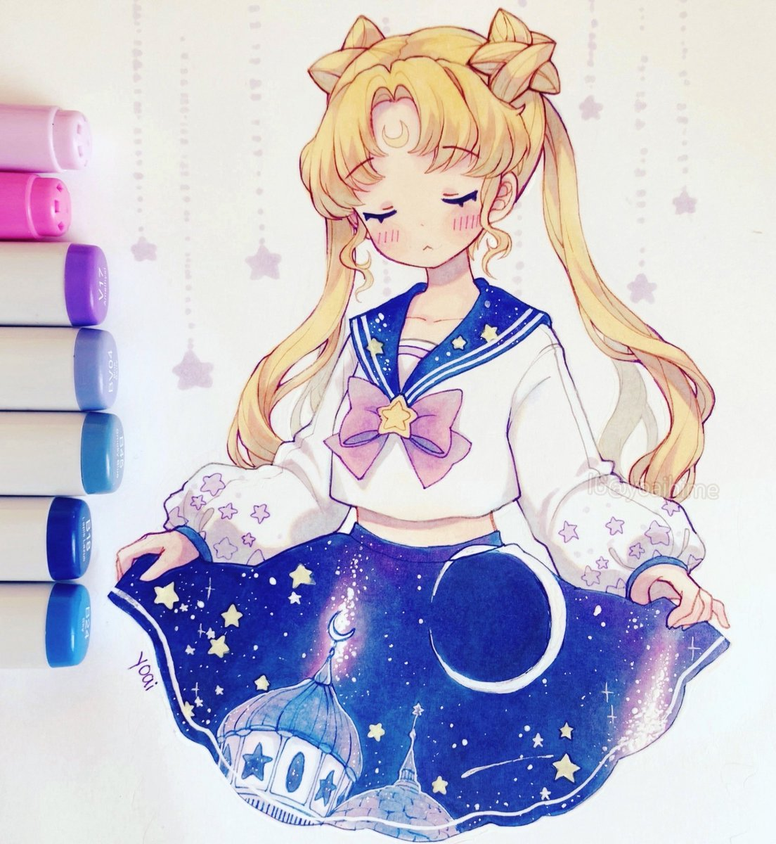Replying to @Yoaihime: sailor moon & stars ⭐️ #fanart