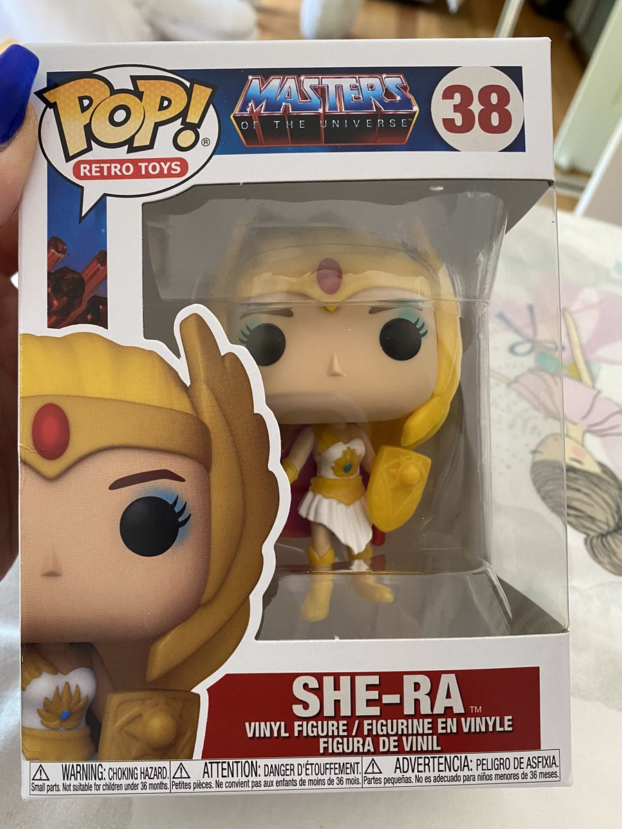 She finally arrived...but alas not mine....gift for my favorite 4yr pocket rocket..little Miss Eva!! @fberry  Thanks @CultureShockC  #motu #shera #pop #Funko
