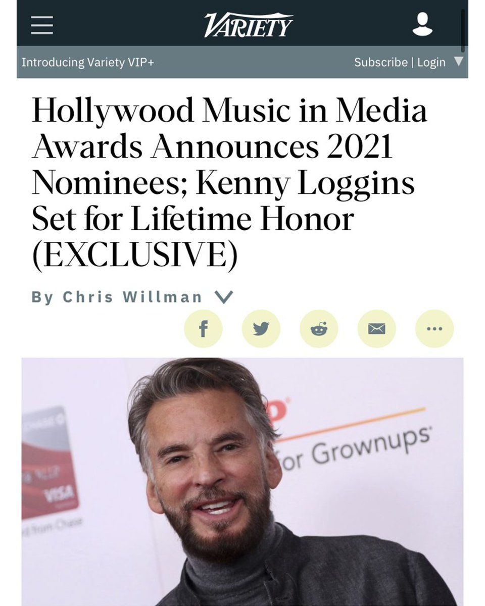 Thanks @HMMAwards @Variety for nomination of Original Song Everybody Cries from @TheOutpostMovie Written by Rod Lurie, Larry Groupé, myself & sung by moi. Tune into HMMA for performances by Lifetime Achievement honoree @thekennyloggins, yours truly & more