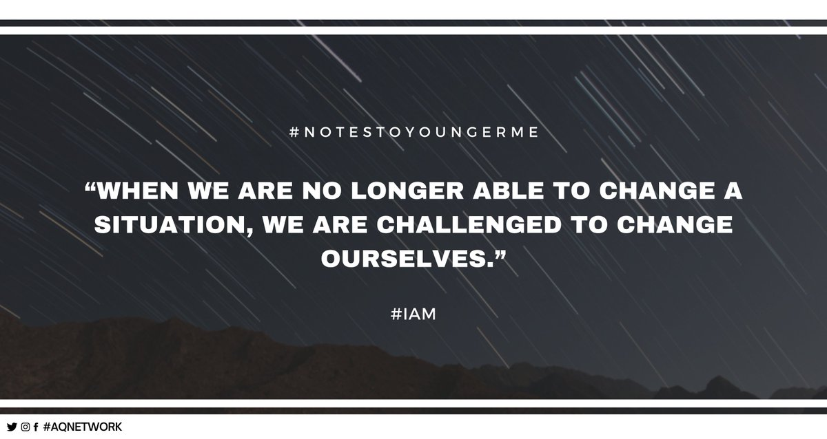 """""""When we are no longer able to change a situation, we are challenged to change ourselves."""" @gary_hensel #NotesToAYoungerMe #IAM  #PositiveVibes #Careers #Motivation #Quote #Books #GrowthMindset"""