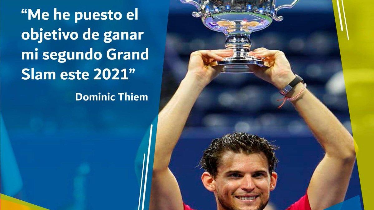 Dominic Thiem, el N° 3 del #ATP, es un hombre de retos y su gran objetivo es levantar un nuevo trofeo Trofeo  ¿Lo logrará en el Australia Open?  #Tenis #Tennis #Deporte #Sports #PeopleTenis #CircuitoTenis #Torneo #UTR #ATP #AO2021
