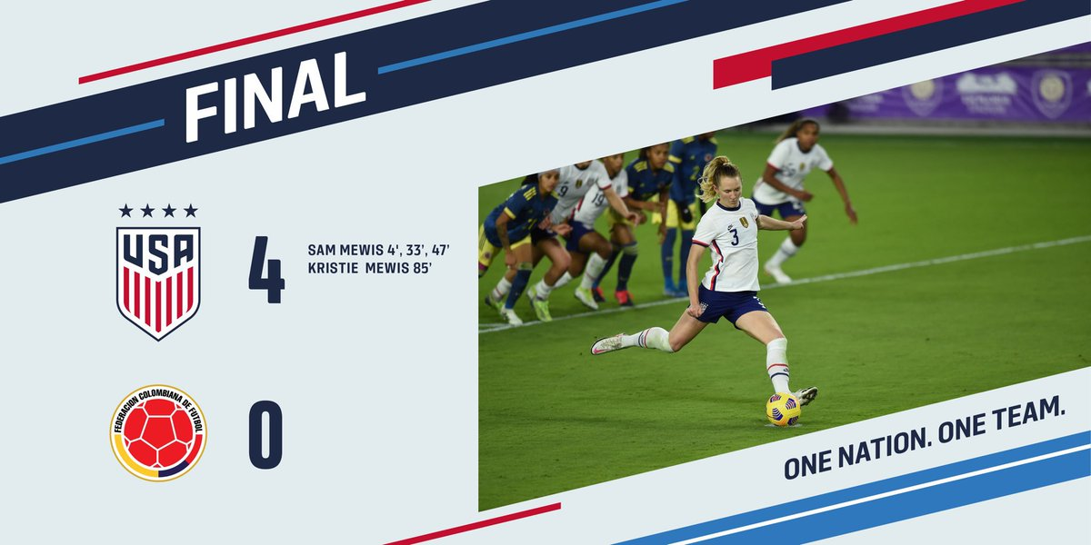 🚨 Greta Victory!  Last 5 goals of #USWNT coming from Mewis  #USA #USAvsCOL