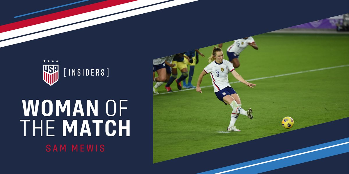 The U.S. Soccer Insiders have voted!  Hats off to @sammymewy, the Insiders Woman of the Match 👏
