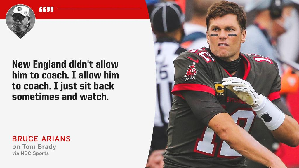 Bruce Arians says he lets Tom Brady do his thing 😎