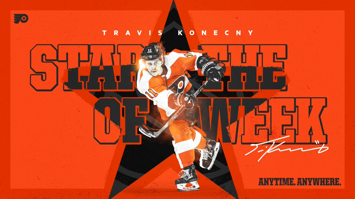 Congrats to TK on being named the @NHL's Second Star of the Week! #AnytimeAnywhere