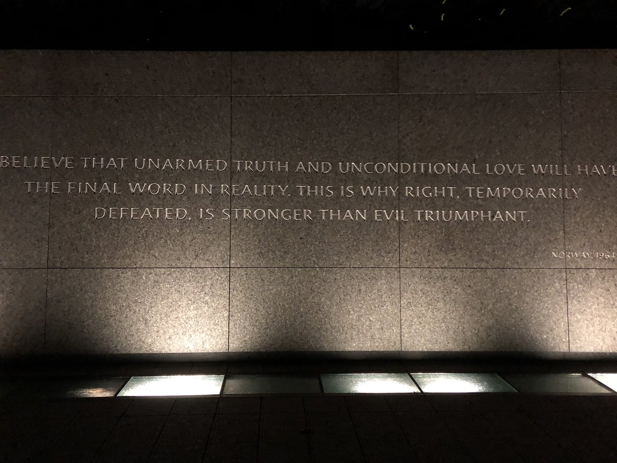 "No matter the season, this quote always speaks to me  ""I believe that unarmed truth and unconditional love will have the final word in reality.   This is why right, temporarily defeated, is stronger than evil triumphant."" - MLK Jr  #Courage #Integrity #Service #Purpose #Rise #MLK"