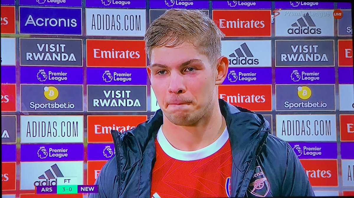 "SO HUMBLE  ""I'm just grateful to be in the team""  Emile Smith Rowe when journalist mentioned that @Arsenal began playing well after he came into the team  #ARSNEW #COYG"