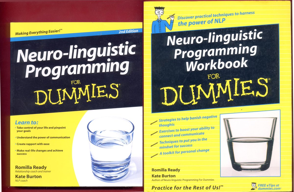 2 NLP books: Neuro-linguistic Programming For Dummies & NLP Workbook for Dummies #NLP #NeuroLinguisticProgramming #Hypnosis #Hypnotherapy #Coaching #NLPTechniques #Neuro_LinguisticProgramming  - Free Shipping -