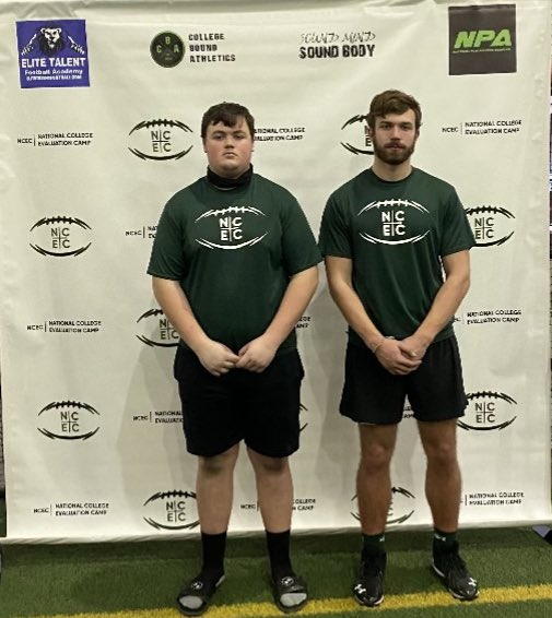 Proud of our guys who attended @SMSBFootball today.  2022s that are starting to make some noise #Reach #Work>Want #theTEAMtheBALLtheMOMENT @JoeyThede  DE/TE @DanielBabcock18 OT/DT
