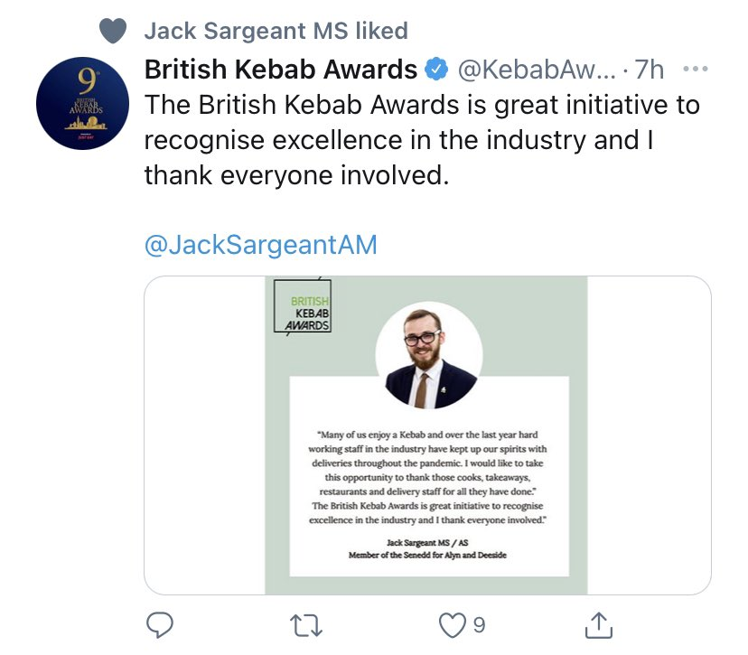 The welsh government are getting the vaccine roll out all wrong and there goes our useless MS @JackSargeantAM @fmwales staying quiet about our health but we give interviews about kebabs !! #gethimout