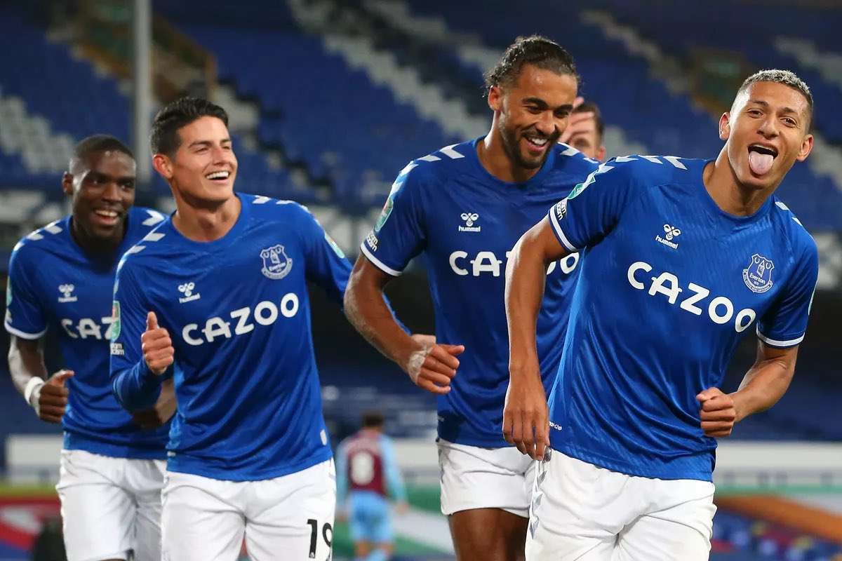 📊 | Everton's record when James Rodriguez, Lucas Digne, Richarlison & Calvert-Lewin have started together this season.  📆Matches: 7 ✅Won: 6 🤝Drawn: 1 ❌Lost: 0 ⚽️Goals: 21  #EFC