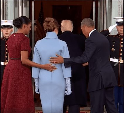 @FLOTUS This is how you were treated when you arrived to the White House. You don't have the decency to do the same for @DrBiden ? #BeBest ?? #WWJD?