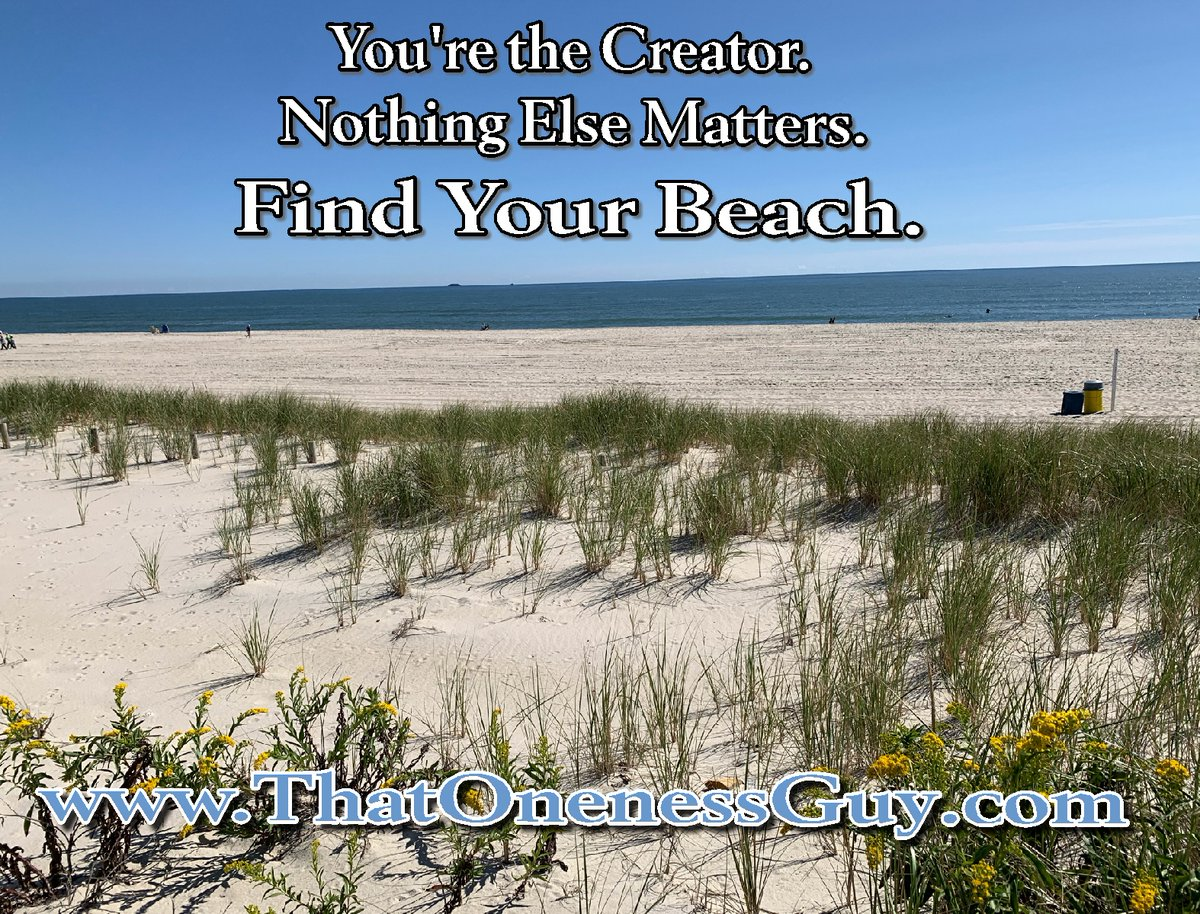 """""""You're the Creator. Nothing else Matters. Find Your Beach""""  #MondayVibes #MLKDay2021 #peace #author #spirituality #beach"""