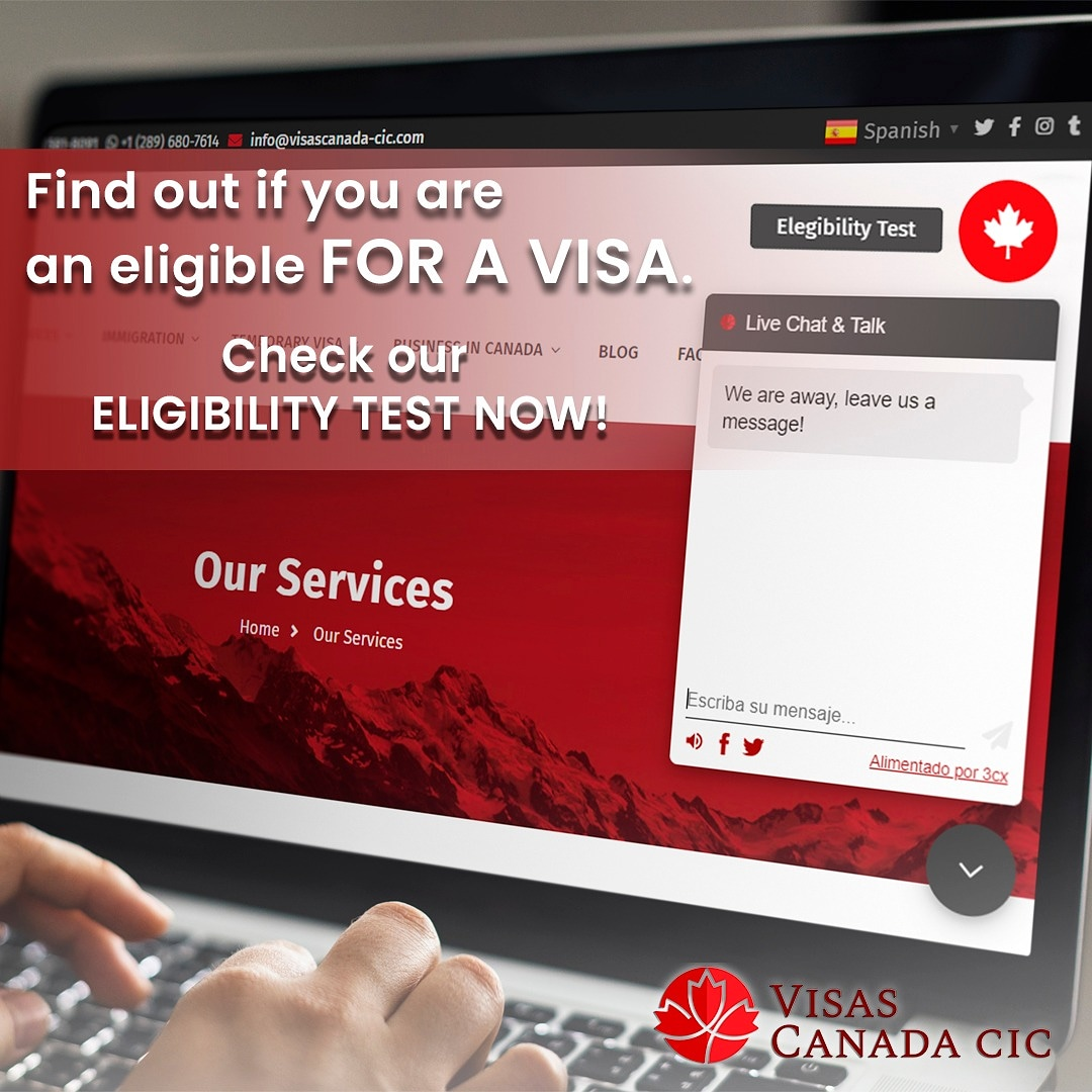 If your dream is to come to Canadá🍁, you must first know if you meet the requirements to get a  visa✔.  By visiting our website, you will find a test that will help you find out if you are eligible 🔝.  #canada #migratetocanada #migrate #work #study #ontario #latinosencanada