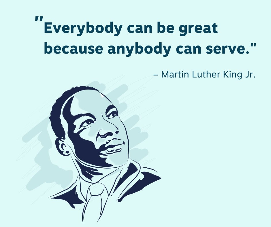 Today, we honor Dr. Martin Luther King Jr., whose legacy reminds us we all can be great when we show kindness and service to others. 🤝🏾 #MLKDay #Kindness #Hope