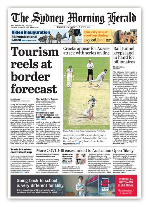 A new warning against overseas travel, as #AustralianOpen preparations continue, #MattDamon arrives, and #AUSvIND cricket lifts #Australia's spirits (a bit).  #coronavirus