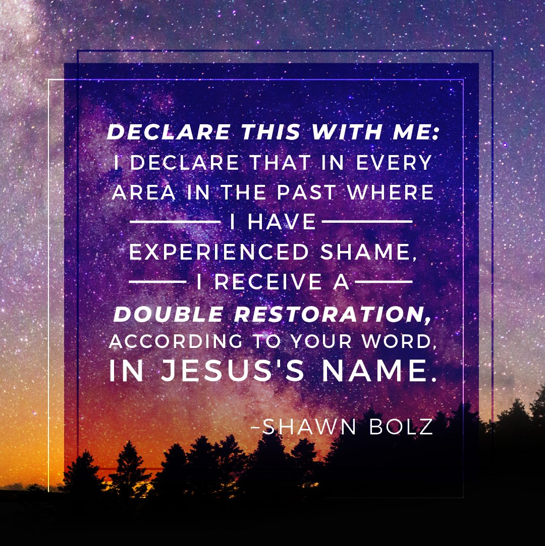 Declare this with me.....