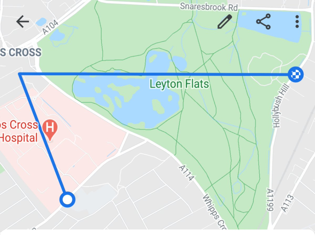Why is #googlefit so bad at tracking my run? I sure as hell didn't run in the forest at 8pm in the dark and through Hollow Ponds 😕 @Google