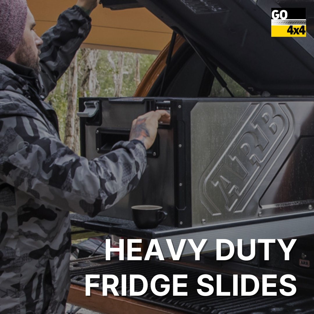 The ARB range of Heavy Duty Fridge Slides are a quality Australian manufactured range to suit a variety of touring fridge models. Get started:  #adelaide #sa #southaustralia #go4x4 #go4x4sa #cars #heavyduty #fridgeslides  #arbaccesories #gears