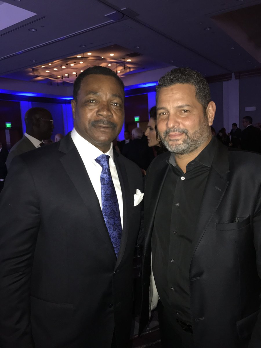My iPhone offered this memory today. Me and the Master of Disaster. I saw #Rocky when I was 8 years old. Still one of my favorites. Question: Why do we look the same age? Damn you @TheCarlWeathers !!! #TheChamp