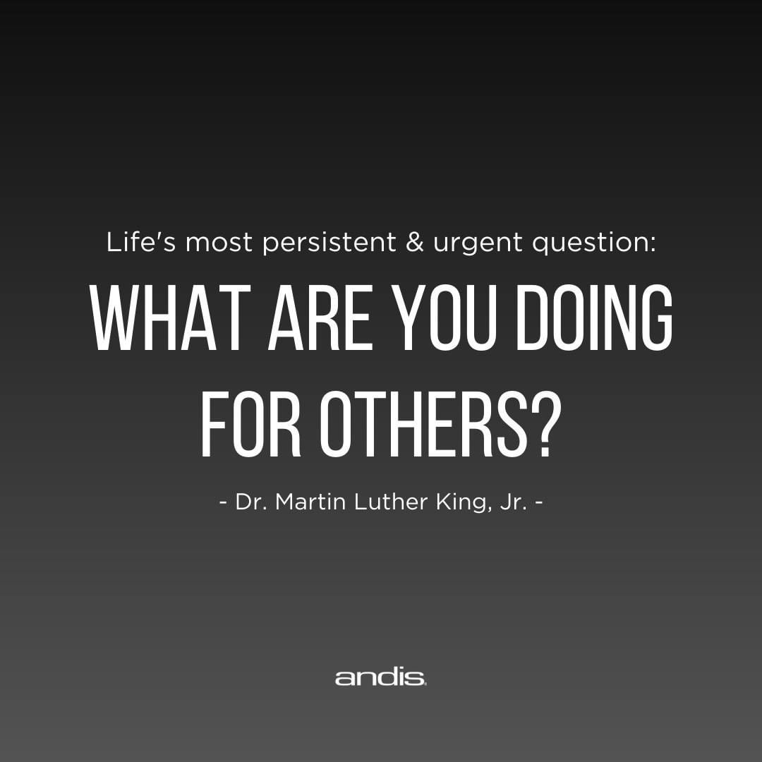 Today as we honor the legacy of Martin Luther King Jr., we encourage everyone to reflect on his words of and think about how you can make a difference in your community. 💭 Whether big or small, we as individuals can come together to make an impact. 🙏 #Andis #MLKDay