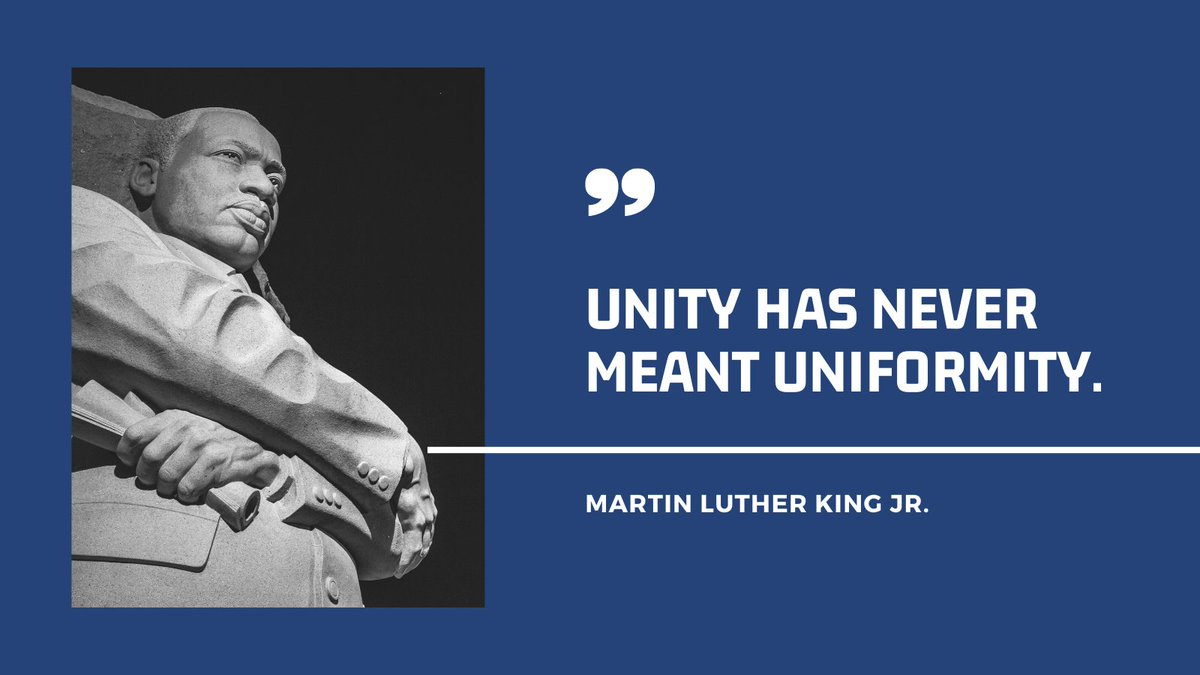 Today, we are reminded of Martin Luther King Jr.'s vision for our country. His words continue to teach and inspire us as we work to broaden the diversity within the ACVIM and the veterinary profession, while making everyone feel welcome and supported within our community. #MLKDay