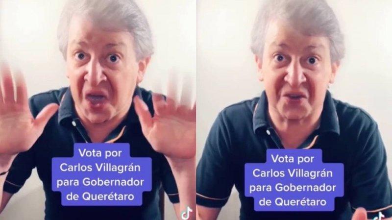 ¡Parece chiste pero es REAL!🤦♂️🤷♂️  Pide #kiko votos para que Carlos Villagrán sea el próximo gobernador de Querétaro. 🗳  El actor comenzó su imitación señalando que ya se encuentra el registro y que ahora se esperan los votos de las personas.  #VIDEO  ➡️