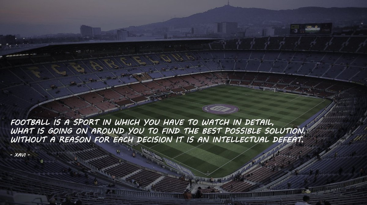 So much truth in a quote from undisputedly one of the best footballers ever. There will always be a solution. That's why we play football! #Letstalkaboutthegame  #football #soccer #philosophy #cruyff #guardiola #Xavi #FCBarcelona #myclub #mesqueunclub #lovethegame