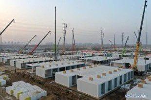 🇨🇳 China | #Hebei | #Shijiazhuang  Han edificado un nuevo centro de aislamiento en tiempo récord.