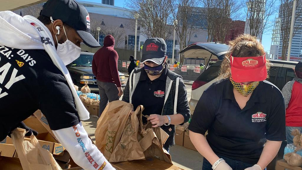 Today, we were honored to have participated in Hosea Helps MLK Day Celebration. Papa John's team members partnered with @4hosea to give out essentials and Papa John's gift cards to families in need.  We encourage you to find a way to help out others your local communities.