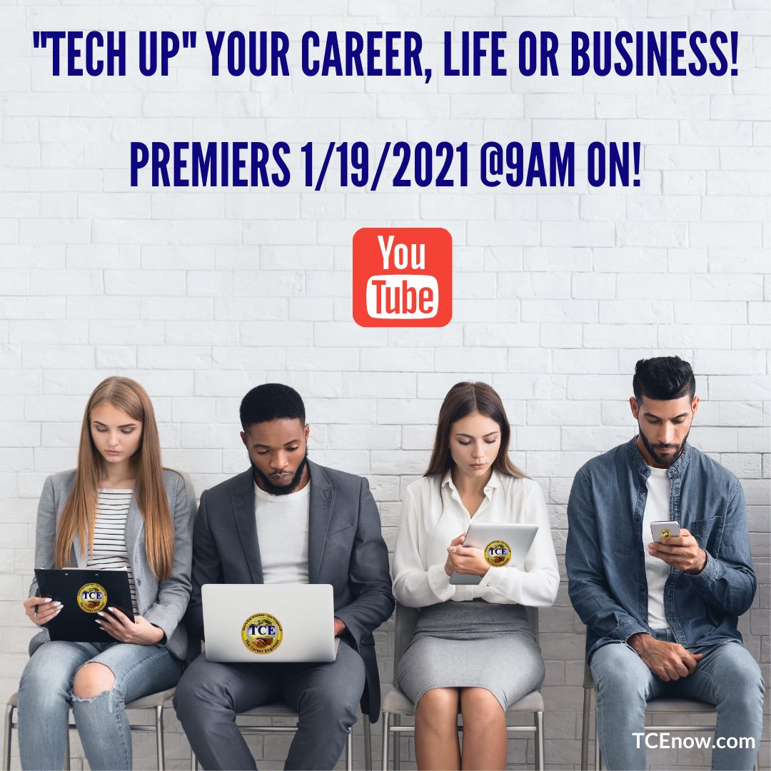 "📣Tuesday, Jan 19th @ 9AM EDT📣:  Catch our ""Tech Tips For Your #Career or #Business"" Video Premier on #Youtube!  It's EASY to watch, just click   Don't Get Anxious - Get Prepared! #youtuber #youtubers #youtubechannel #youtubevideos #follow #subscribe"