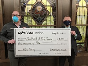 SSM Health St. Mary's Hospital – Janesville is pleased to share that our community partner @HealthNetofRock raised over $16k with its #GivingTuesday campaign. SSM Health provided the $4k matching grant that began the day's fundraising. Thank you to all who contributed!