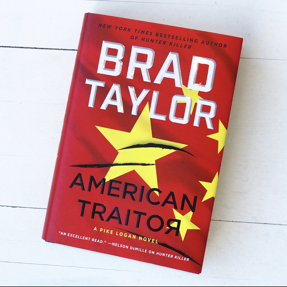 """Grab a book that will thrill you! We recommend Brad Taylor's newest pulse-pounding read """"American Traitor"""" as Pike Logan must stop a threat of war where nothing is as it seems! #bradtaylor #amreading"""