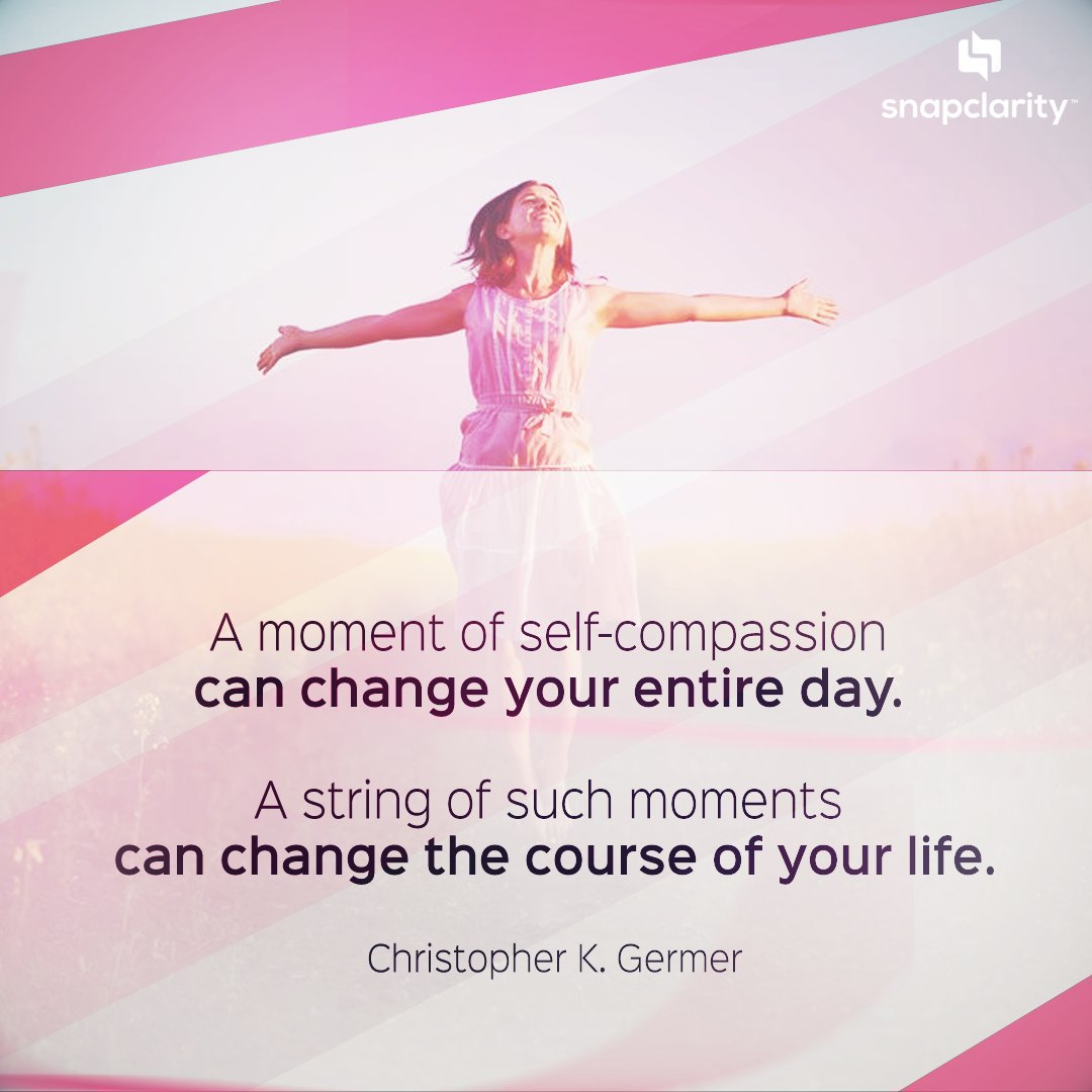 """""""A moment of self-compassion can change your entire day. A string of such moments can change the course of your life."""" — Christopher K. Germer  . . . #compassion #kindness #mindfulness #meditation #bepresent #powerofnow #Love #zen #wellbeing #wellness"""