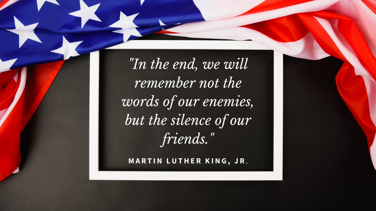 Let us celebrate and honor the life and legacy of Dr. King today and throughout the year. #MLKday