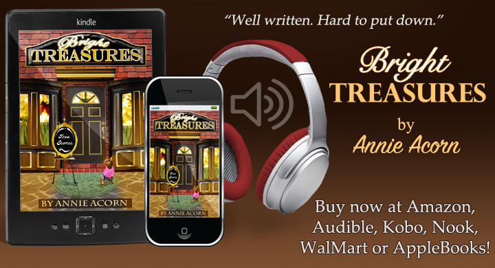 Accident? Suicide? In his gut, it felt more like murder. BRIGHT TREASURES – a full-length, cozy mystery.  YOU won't want to miss this one! #Cozy #Mystery #Romance #Humor #audiobook #Kindle #Kobo #Nook #iTunes #Bookclub #BookBoost #IARTG #RomHero #authorRT