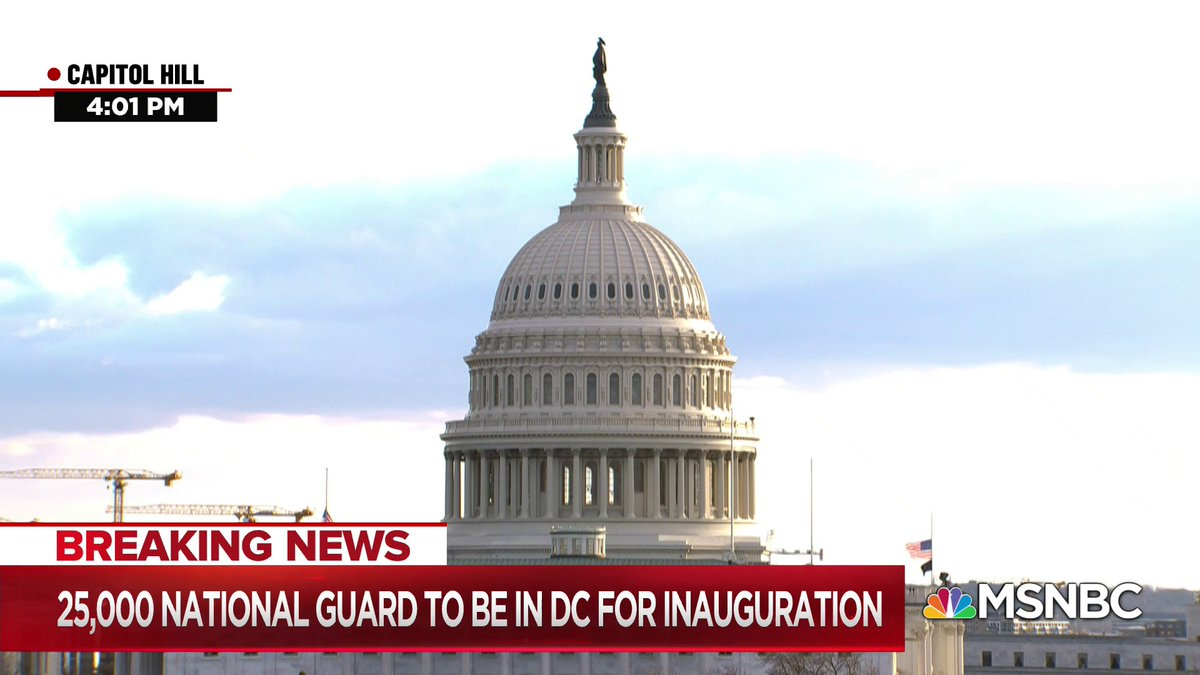 """""""It's clearer than ever that this will not be an inauguration like any this country has ever seen. Already, the transfer of power is not a peaceful one, in the aftermath of a coordinated insurrection... There's also the matter of the president's impeachment trial..."""" - @jheil"""
