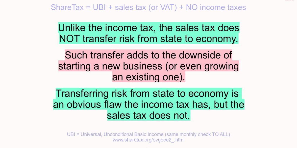 FairTax doesn't transfer risk from state to economy.  #EU #business