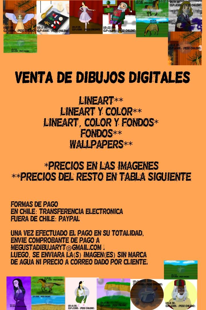 Hola, vendo mis dibujos digitales en Chile y en el extranjero. Para más información, pueden ver las imágenes adjuntas.  Ve el catalogo completo en mi perfil  #commissions #drawing #illustration #digitalillustration  #digitalpainting #digitaldrawing  #digitalart  #artcommissions